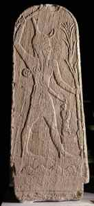 Stela depicting Baal the storm god