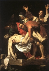 Jesus being prepared for burial by Joseph of Arimathea