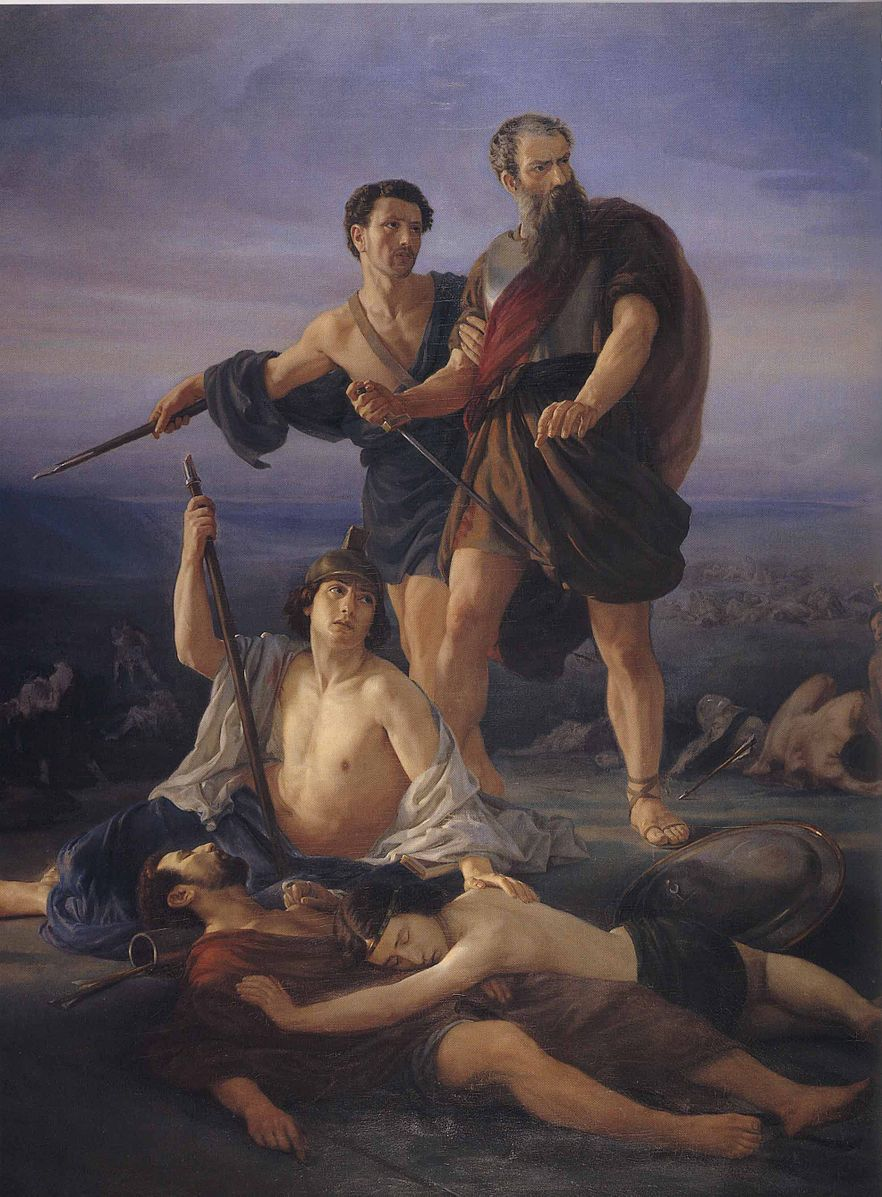 """Death of King Saul"", 1848 by Elie Marcuse"