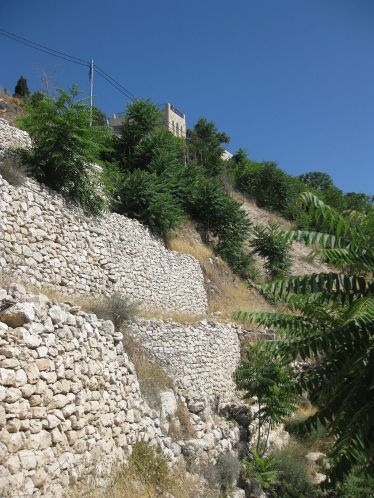 Jebusite wall