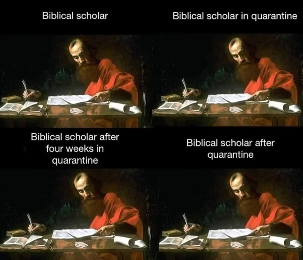 Bib scholars in quarantine