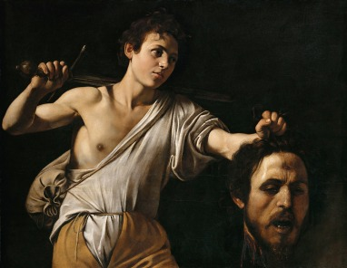 Caravaggio, David with the Head of Goliath, c. 1607, in the Kunsthistorisches Museum Gemäldegalerie, Vienna